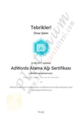 AdWords Arama Ağı Sertifikası Academy for Ads