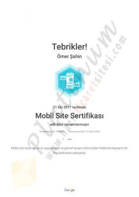 Mobil Site Sertifikası Academy for Ads