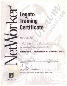 1999 - Legato Backup Networker