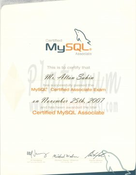 2007 - Certified Mysql Associate
