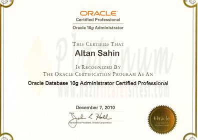 2010 - ORACLE Certified Professional