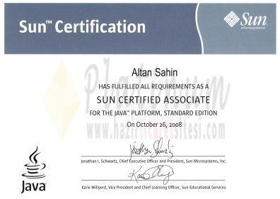 2008 - SUN CERTIFIED ASSOCIATE
